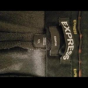 Express Editor pants Dark grey flared jeans